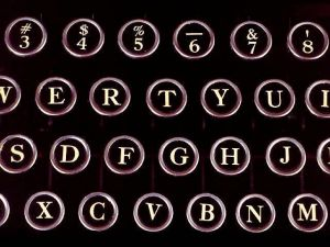 Manual Typewriter Keys