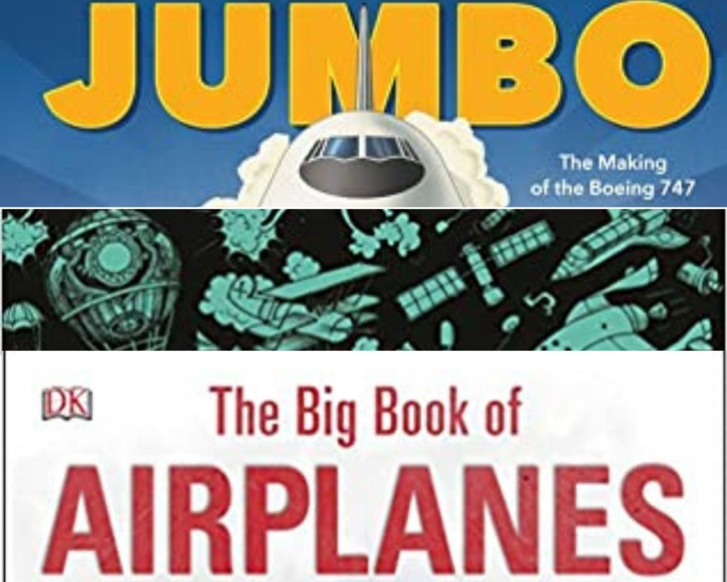 Airplane book covers